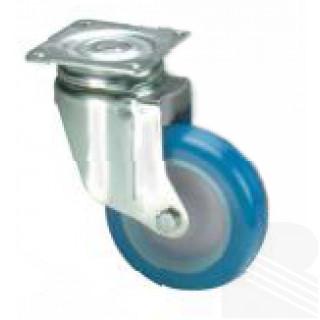 Ruota girevole nylon poliuretano blu - arredamento