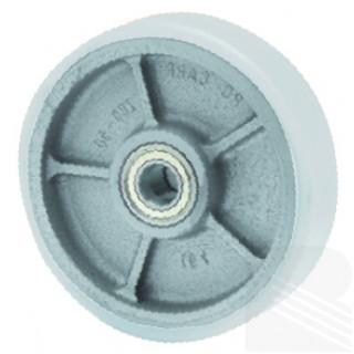 Ruota ghisa poliuretano antistatico d. 200x50 Solo Ruota